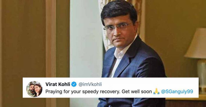 Virat Kohli and other crickets wish speedy recovery to Sourav Ganguly after former captain rushed to hospital