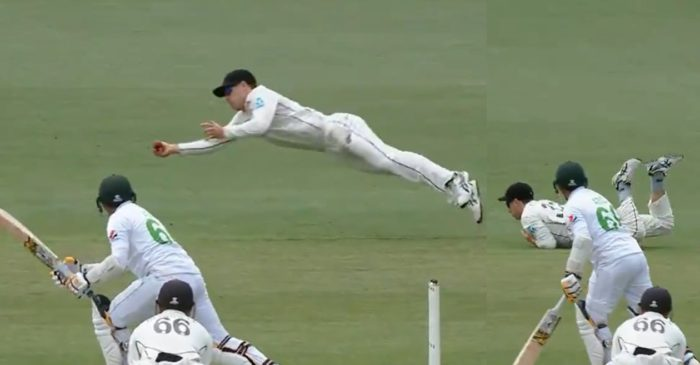 NZ vs PAK: WATCH – Will Young grabs a one-handed stunner to remove Abid Ali in 2nd Test