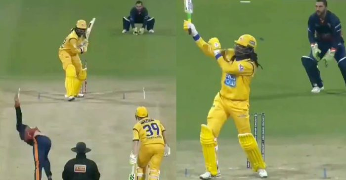 WATCH: Chris Gayle hits joint-fastest half-century in T10 history en route to his 22-ball 84