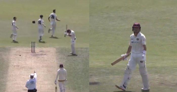 WATCH: Marnus Labuschagne loses his calm after given out in the Sheffield Shield tournament