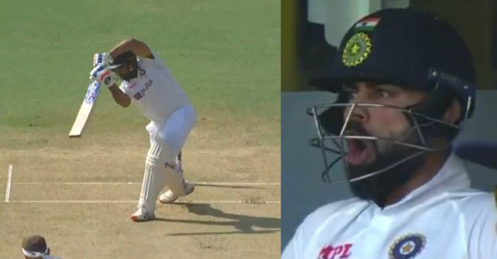 IND vs ENG: Virat Kohli shouts 'Yes Boy' from the pavilion after Rohit Sharma hits a four off Stuart Broad