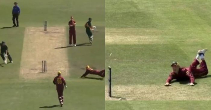 WATCH: Marnus Labuschagne does a Jonty Rhodes against Tasmania in Marsh Cup