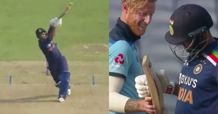 IND vs ENG: WATCH – Ben Stokes hilariously checks Shardul Thakur's bat after being smashed for a six