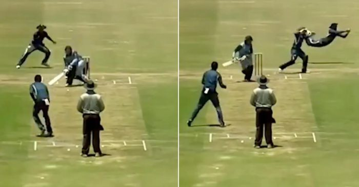WATCH: A slip fielder shows stunning anticipation to complete a catch at leg-slip