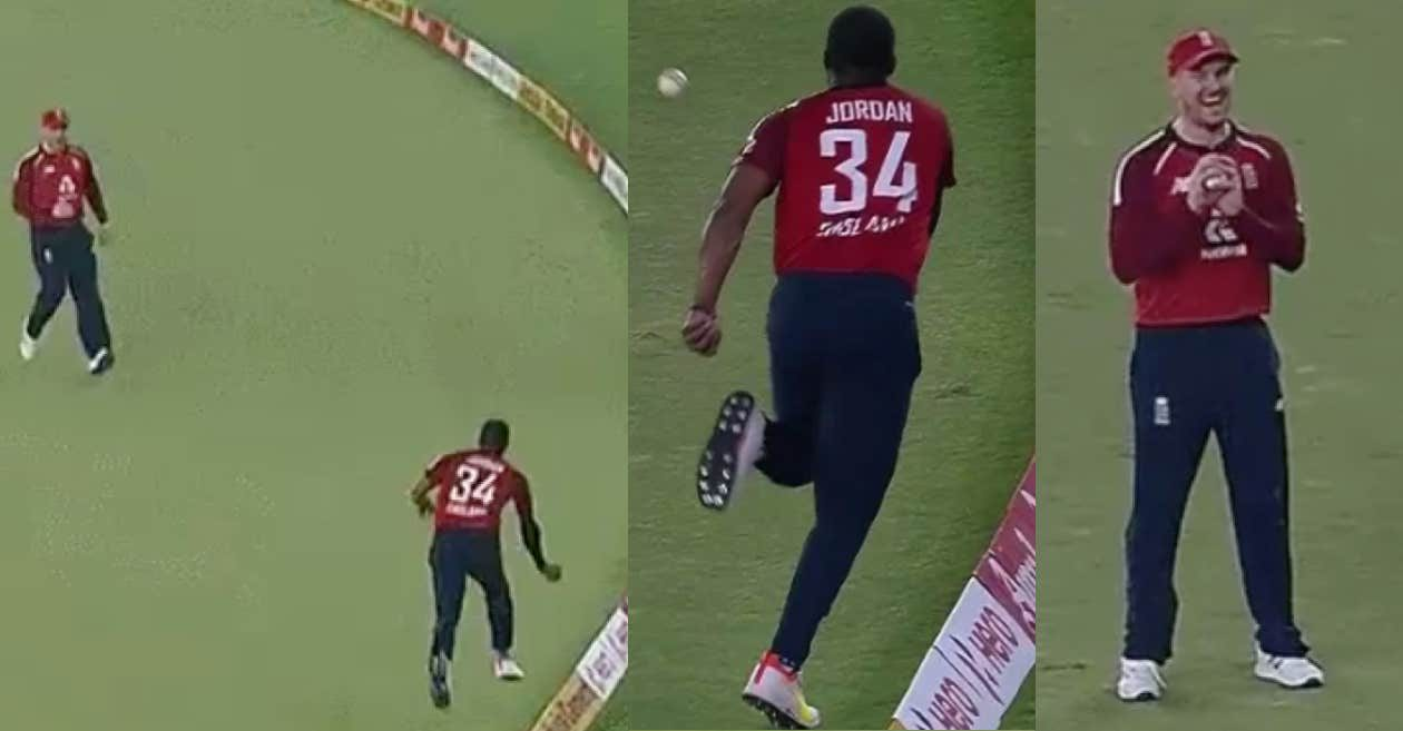 IND vs ENG: WATCH – Chris Jordan partners with Jason Roy to pull off an outrageous catch of Suryakumar Yadav