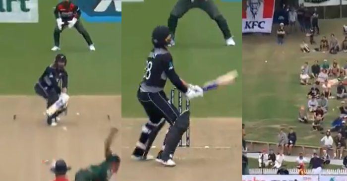 NZ vs BAN: WATCH – Devon Conway imitates Rishabh Pant to play a reverse flick in Hamilton T20I