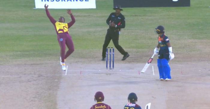 WI vs SL – WATCH: Fabian Allen takes a one-handed stunner to dismiss Danushka Gunathilaka