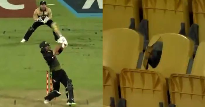 NZ vs AUS: WATCH – Glenn Maxwell breaks a seat with a monster six at Wellington stadium
