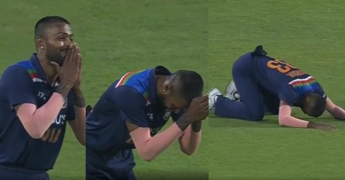 IND vs ENG: WATCH – Hardik Pandya bow down to Shikhar Dhawan for Ben Stokes' catch after dropping a sitter