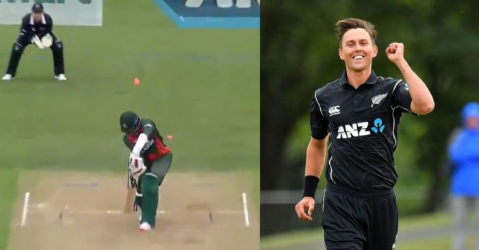 NZ vs BAN – WATCH: Trent Boult knocks over Hasan Mahmud with 'peach of a delivery'