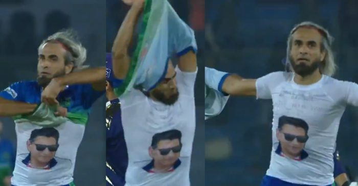 WATCH: Imran Tahir removes his jersey after picking a wicket to pay tribute to late cricketer Tahir Mughal
