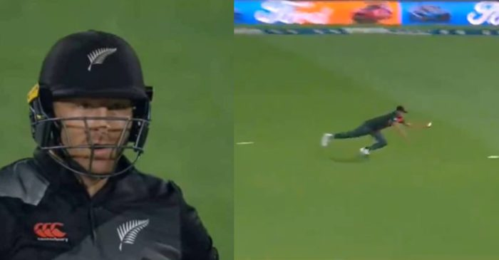 NZ vs BAN: WATCH – Taskin Ahmed grabs a one-handed stunner to dismiss Martin Guptill
