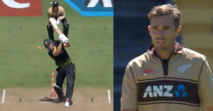NZ vs AUS: WATCH – Tim Southee knocks over Mitchell Marsh with a pinpoint yorker in the T20I series decider