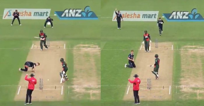 WATCH: Bangladesh batsman Mohammad Mithun gets out in the worst way against New Zealand