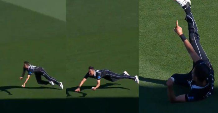 NZ vs BAN – WATCH: Trent Boult plucks a one-handed blinder to dismiss Liton Das in 3rd ODI