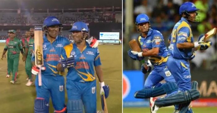 Road Safety World Series: Fans go berserk as Virender Sehwag, Sachin Tendulkar make a mockery of Bangladesh Legends