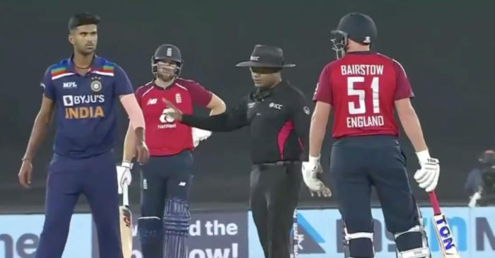 IND vs ENG: WATCH – Washington Sundar loses cool at Jonny Bairstow after missing Dawid Malan's catch