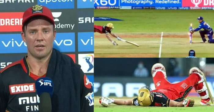 """Felt like I was running backwards"": AB de Villiers throws light on his run-out in IPL 2021 opener"
