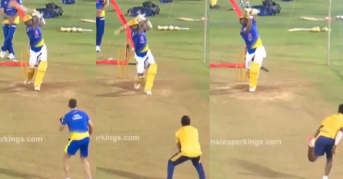 IPL 2021 – WATCH: Cheteshwar Pujara smashes back-to-back sixes in CSK nets; fans go crazy