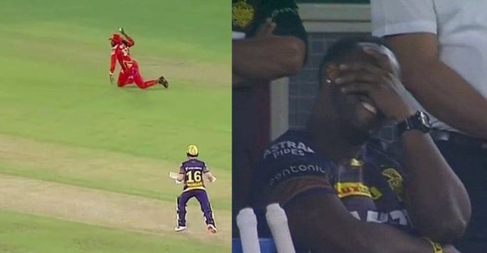 IPL 2021: PBKS vs KKR, WATCH- Chris Gayle's goofs up his dive leaving Andre Russell in splits