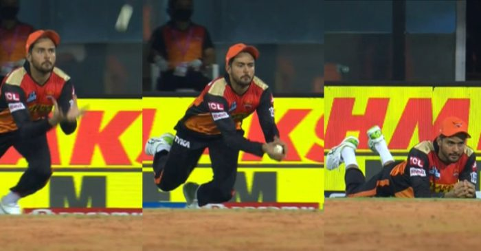 IPL 2021: WATCH – Manish Pandey takes a magnificent diving catch to dismiss Washington Sundar