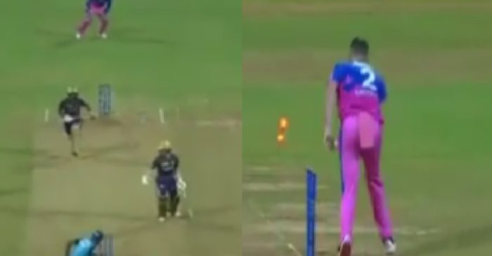 IPL 2021, RR vs KKR – WATCH: Eoin Morgan's unlucky run out after a mix-up with Rahul Tripathi
