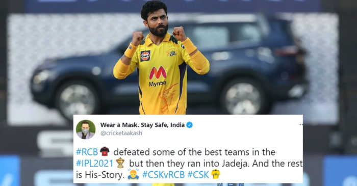 Twitter reactions: All-round Ravindra Jadeja shines as CSK thrash RCB in Wankhede
