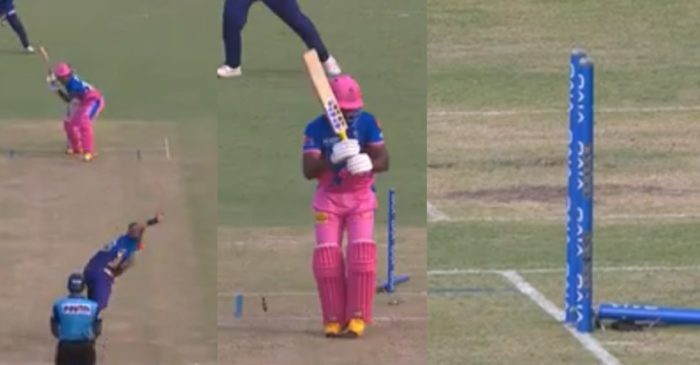 IPL 2021, MI vs RR: WATCH – Trent Boult bowls a blockhole yorker to dismiss Sanju Samson