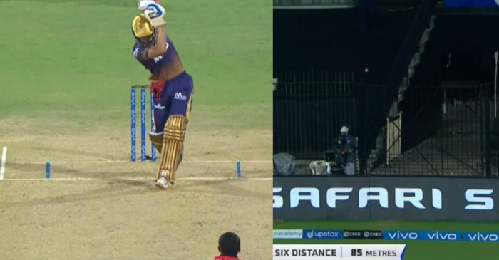 IPL 2021: WATCH – Shubman Gill hits a no-look six off T Natarajan in SRH vs KKR clash