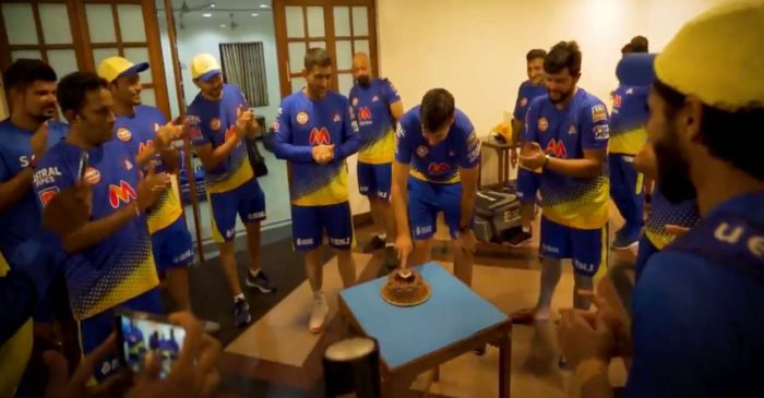 WATCH: MS Dhoni and his CSK teammates celebrate their head coach Stephen Fleming's birthday in Mumbai