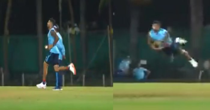 IPL 2021 – WATCH: Delhi Capitals pacer Umesh Yadav takes a one-handed stunner during the practice session