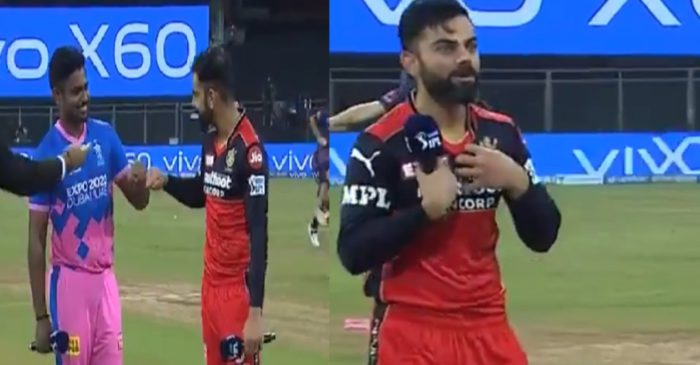 IPL 2021: WATCH – Virat Kohli leaves everyone in splits after winning the toss against Sanju Samson