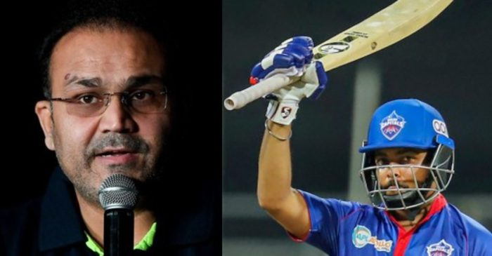 IPL 2021: Virender Sehwag heaps praises on Prithvi Shaw for his batting brilliance against KKR