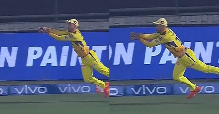 IPL 2021: WATCH – Faf du Plessis takes an extraordinary catch at the boundary to dismiss Manish Pandey