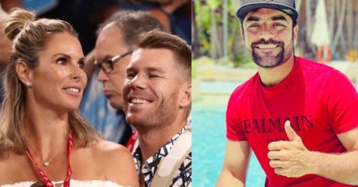 David Warner posts a message for his wife Candice in Telugu; Rashid Khan reacts