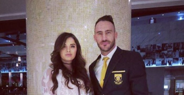 Faf du Plessis opens up on why he and his wife received death threats after the 2011 World Cup