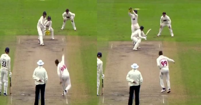 WATCH: Marnus Labuschagne surprises everyone with his leg-spin bouncer against Lancashire