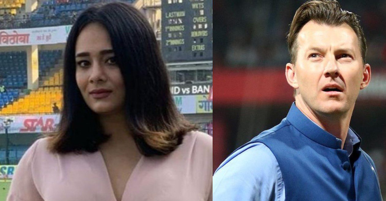 Brett Lee reacts to a 'cute' picture shared by TV presenter Mayanti Langer