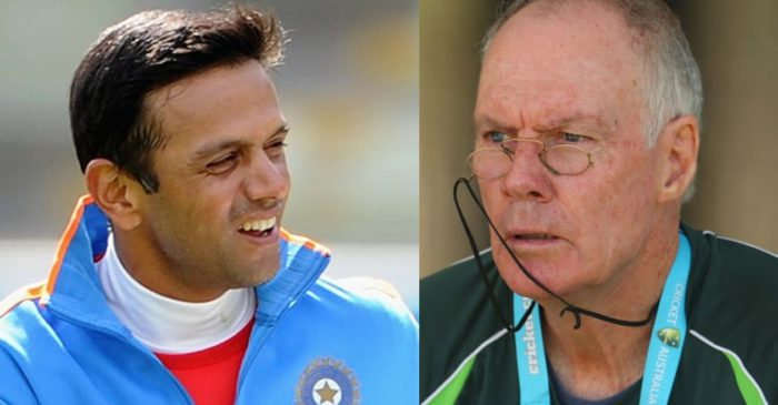 Greg Chappell reckons Rahul Dravid of implementing Australia's coaching system at India's junior levels
