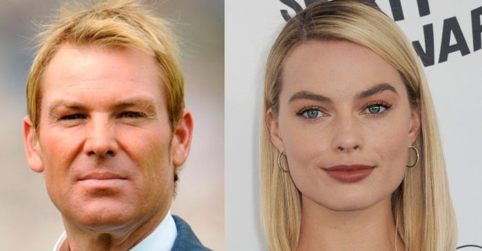 Shane Warne has his heart up the sleeves for Hollywood actress Margot Robbie