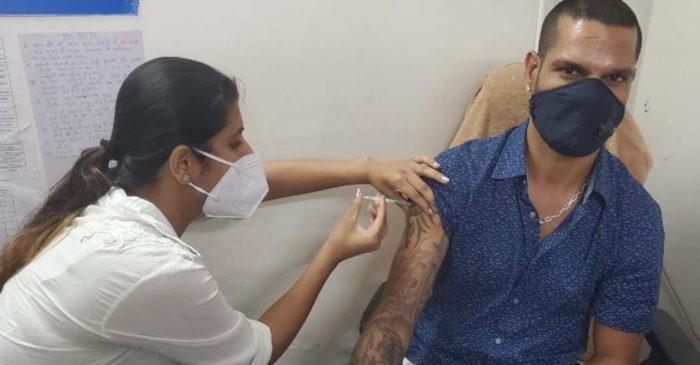 Shikhar Dhawan receives the first dose of COVID-19; urges fans to get vaccinated as soon as possible