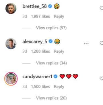 Brett Lee, Alex Carry and Candice Warner comments