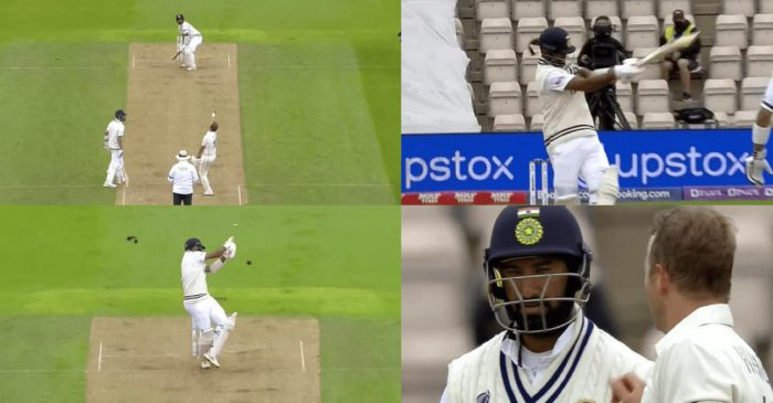 WATCH: Neil Wagner breaks the soft protection of Cheteshwar Pujara's helmet with a nasty bouncer