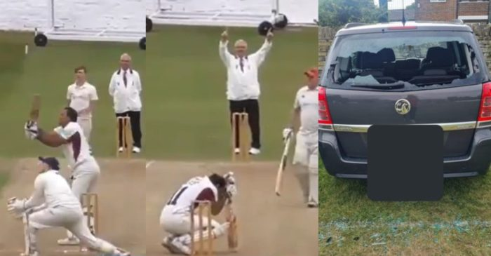 WATCH: Club cricketer breaks his own car's windscreen with a massive six