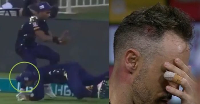 PSL 2021 – WATCH: Faf du Plessis taken to hospital after a nasty collision with Mohammad Hasnain