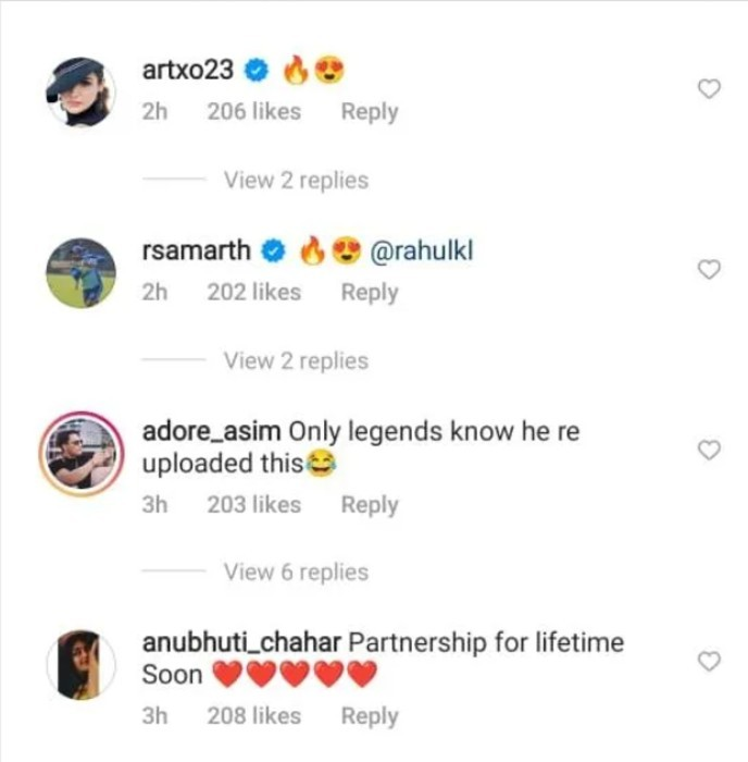 Fans and friends react to the picture
