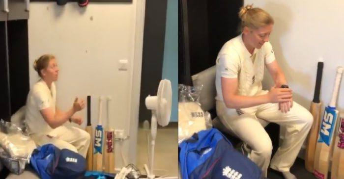 WATCH: England skipper Heather Knight practices coin toss before the Test match against India Women