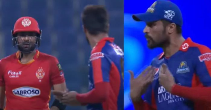WATCH – Mohammad Amir get involved in a war of words with Iftikhar Ahmed in PSL 2021