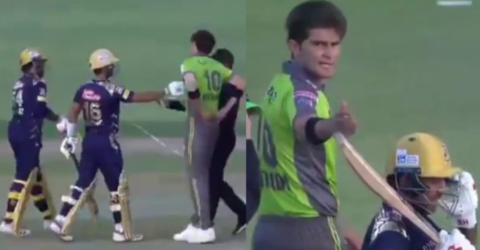 WATCH: Sarfaraz Ahmed and Shaheen Afridi engage in a heated exchange during a PSL 2021 match