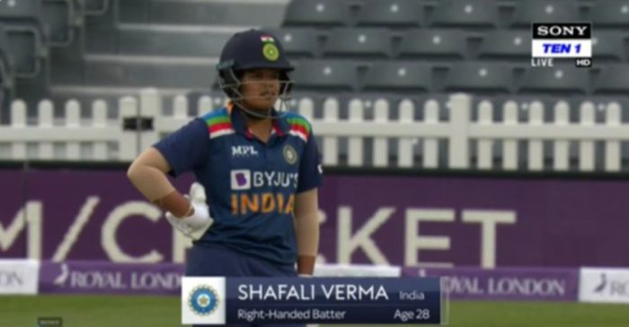 Fans slam broadcasters for showing Shafali Verma's age incorrectly